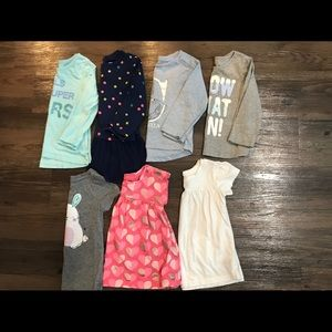 LOT of 2T Girls' Shirts
